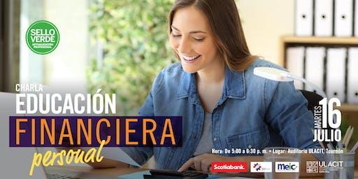 SELLO VERDE: Charla: Educación Financiera Personal