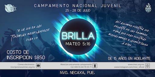 """Campamento Juvenil: """"BRILLA"""" - IMEC 2019"""