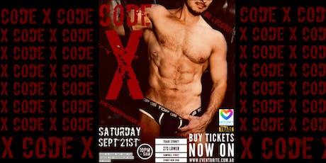CODE X   THE UNDERWEAR PARTY tickets