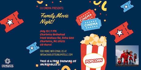 CU Cinemas presents FAMILY MOVIE NIGHT! tickets