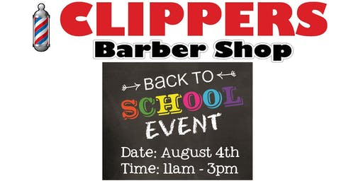 Clippers Barber Shop Back to School Event