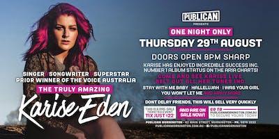 Karies Eden LIVE at Publican, Mornington!
