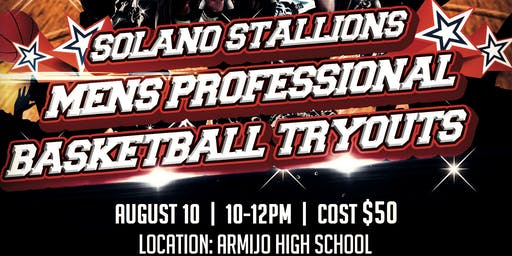 Solano Stallions Mens Basketball Tryouts