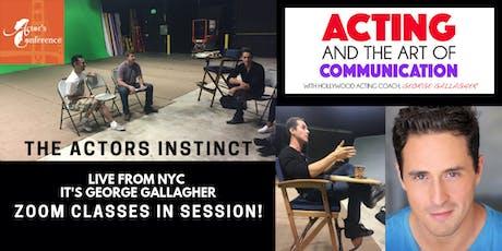 The Actor's Instinct New Zoom Webinar tickets