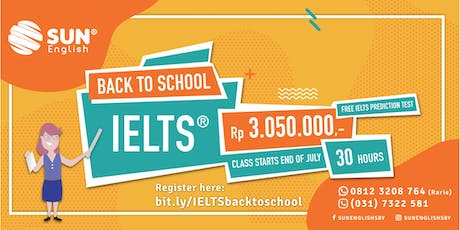 FREE IELTS Prediction Test + Promo Regular Class Only Rp 3.050.000 tickets