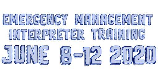 Emergency Management Interpreter Training (EMIT) 2020