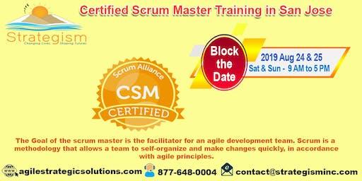 Certified Scrum Master (CSM) Training in San Jose-Aug 24-25,2019