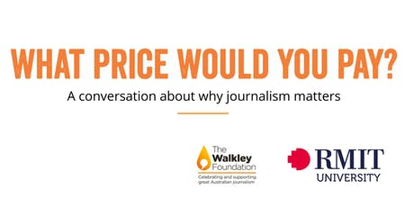 What Price Would You Pay? A Conversation about why journalism matters tickets