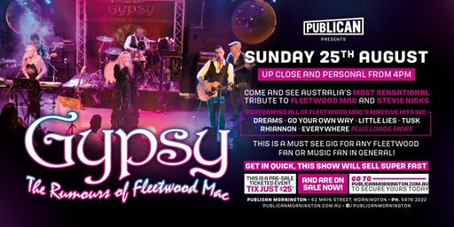 Gypsy - The Rumours of Fleetwood Mac LIVE at Publican!