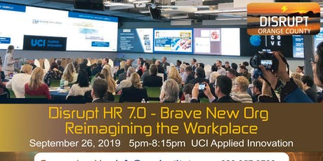 Disrupt HR 7.0: Brave New Org - Reimagining the Workplace tickets