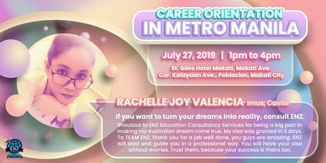 FREE CAREER ORIENTATION IN METRO MANILA! #StudyAbroadPH tickets