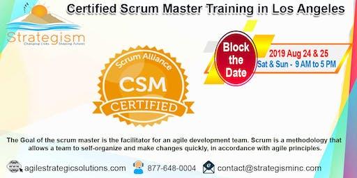 Certified Scrum Master (CSM) Training in Los Angeles-Aug 24-25,2019
