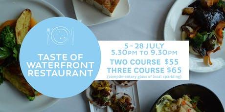 Taste of Waterfront Restaurant tickets