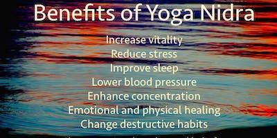 Yoga Nidra Relaxation and Meditation Friday evenings