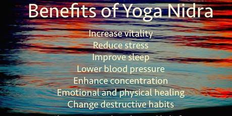 Yoga Nidra Relaxation and Meditation Friday evenings tickets