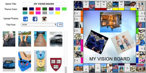 VISION BOARD GAME PARTY