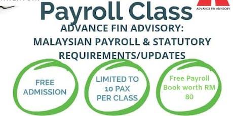 Payroll Class tickets