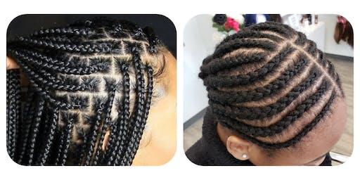 TWO TECHNIQUES: Cornrow & Braiding Workshop Level 1 (for stylists)