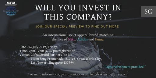 Global Sports Apparel Brand Private Preview #327