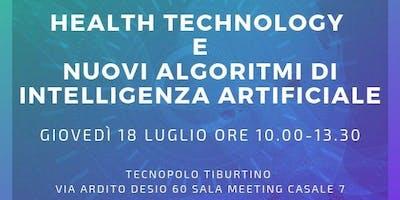 HEALTH TECHNOLOGY E NUOVI ALGORITMI DI INTELLIGENZA ARTIFICIALE