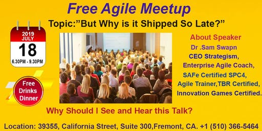 Free Agile Meetup in Fremont-July 18th,2019