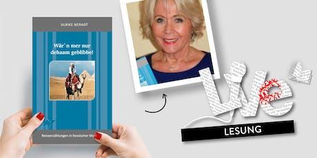 LESUNG: Ulrike Neradt tickets