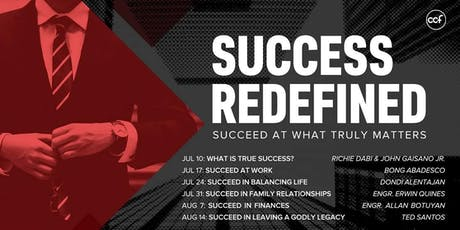 SUCCESS REDEFINED: Succeed at What Truly Matters tickets