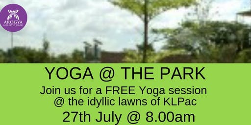 FREE Yoga@thePark at KLPAC on 27th July 2019