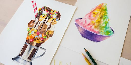 Food Drawing with Colour Pencils (1 Session Evening)