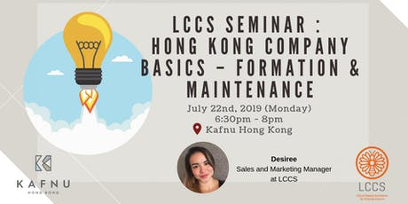 LCCS Seminar : Hong Kong Company Basics – Formation & Maintenance tickets