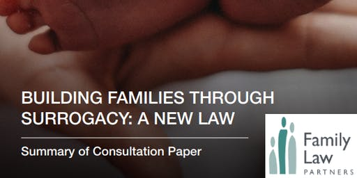 "Building families through surrogacy: a new law"" - a consultation event (Brighton)"
