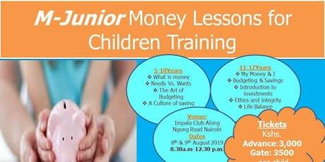 M-Junior Money Lessons For Children Training tickets