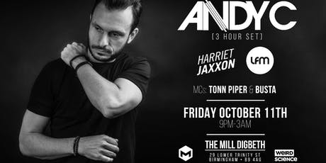 Andy C - 3 Hour Set (The Mill, Birmingham) tickets