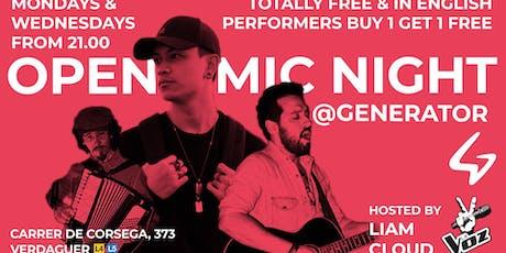 Barcelona Open Mic Night @Generator Hostel entradas
