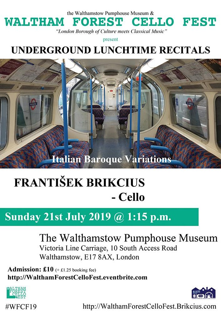 Waltham Forest Cello Fest 2019 - the 5th Underground Lunchtime Recital image