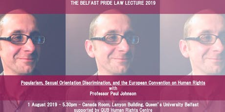 Lawyers with Pride Law Lecture - Professor Paul Johnson tickets