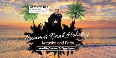 Summer Bank Holiday Sunday tickets