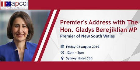 Premier's Address with The Hon. Gladys Berejiklian MP - Joint Chambers Luncheon tickets