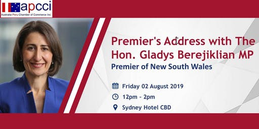 Premier's Address with The Hon. Gladys Berejiklian MP - Joint Chambers Luncheon