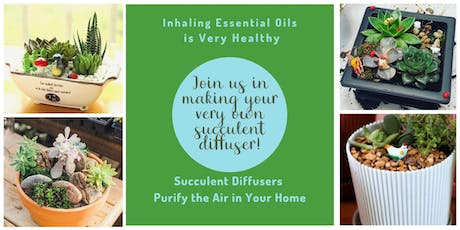 Design Your Own Essential Oil Succulent Diffuser  tickets
