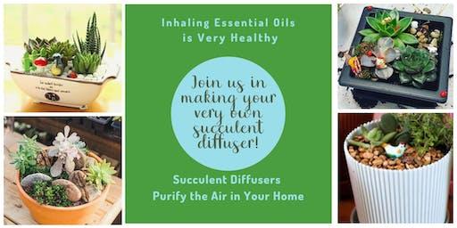 Design Your Own Essential Oil Succulent Diffuser