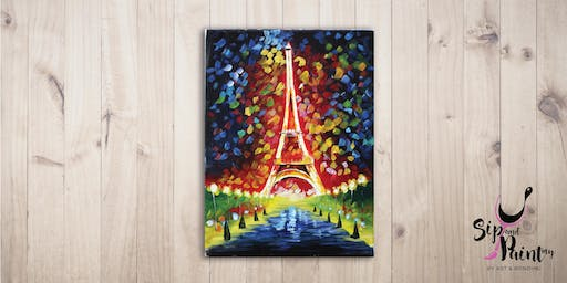 Sip & Paint @ EGG Sunway: Eiffel Tower