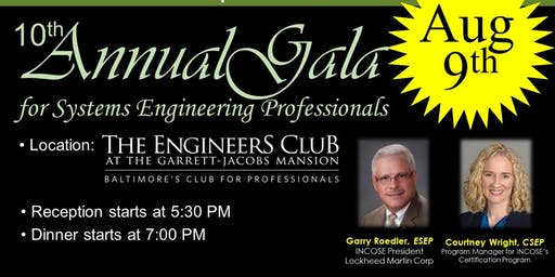 INCOSE-CC's 10th Annual Gala for Systems Engineering Professionals