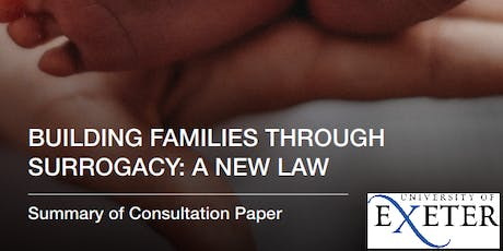 """""""Building families through surrogacy: a new law"""" - a consultation event (Exeter) tickets"""