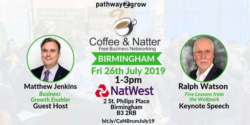 Birmingham Coffee & Natter - Free Business Networking Fri 26th July 2019