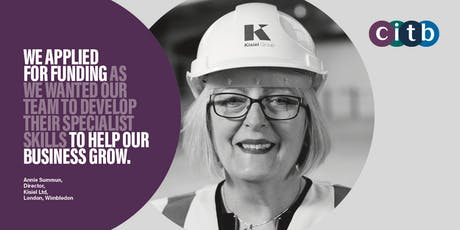 CITB Skills and Training fund drop in session tickets