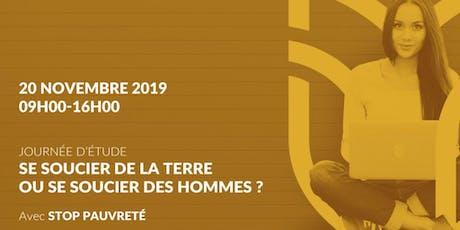 SE SOUCIER DE LA TERRE OU SE SOUCIER DES HOMMES ? tickets