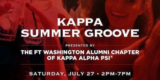 THE FT. WASHINGTON ALUMNI CHAPTER OF KAPPA ALPHA PSI PRESENTS: KAPPA SUMMER GROOVE