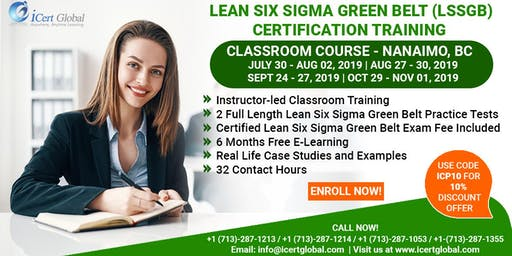 Lean Six Sigma Green Belt Certification Training Course in Nanaimo, BC.