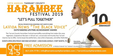 10th Annual Tarrant County Harambee Festival  tickets